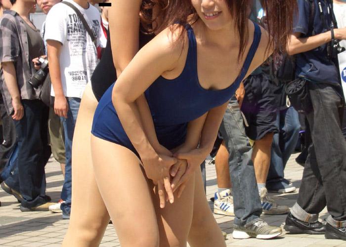 【コスプレエロ画像】イイ大人でも可愛ければ許せる!(゚∀゚)スク水姿のコスプレイヤー達