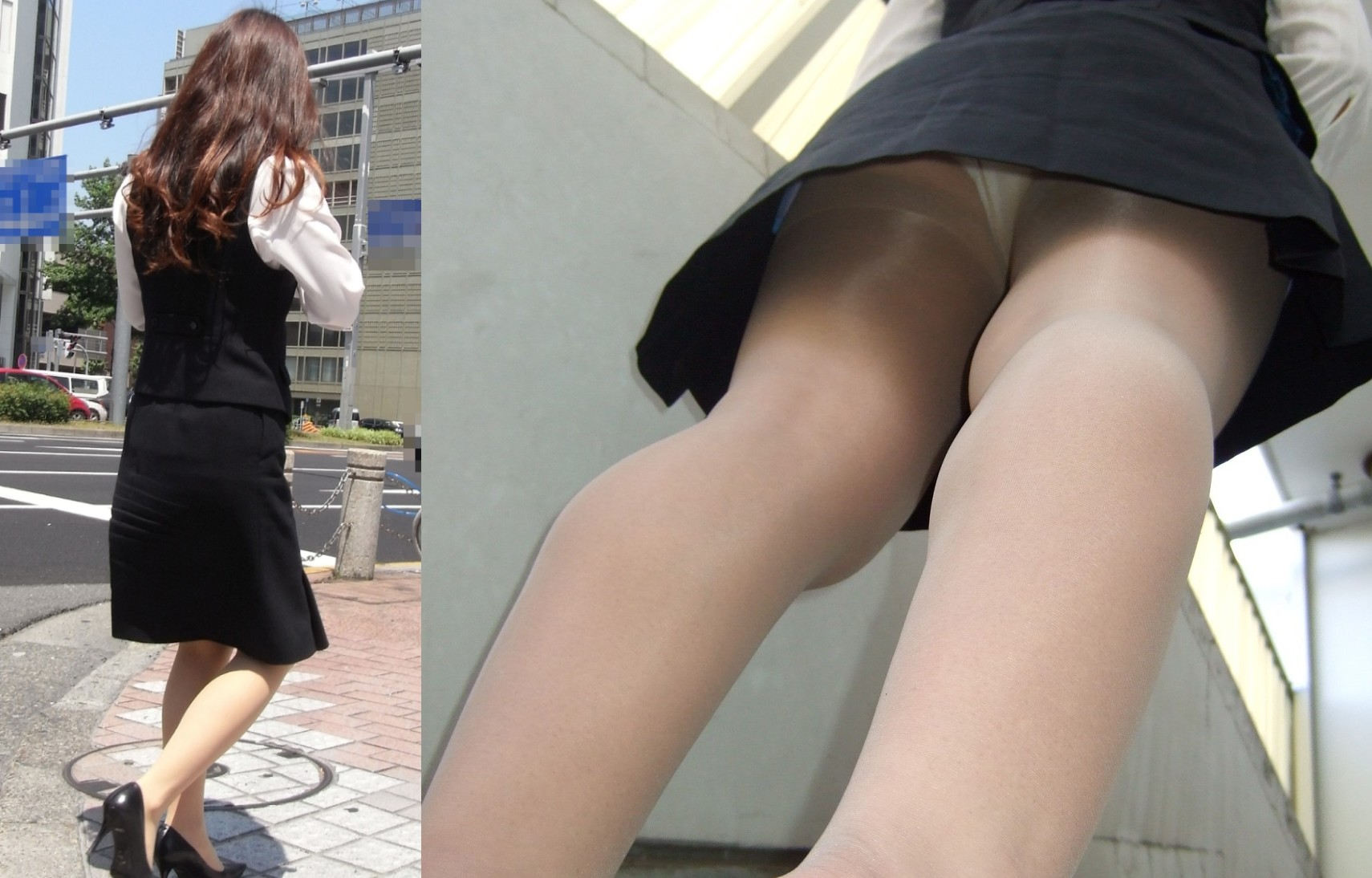 【OLパンチラエロ画像】窓際でも同僚の下着が覗けるなわ悪くもない?働く女性のパンチラ(*´Д`)