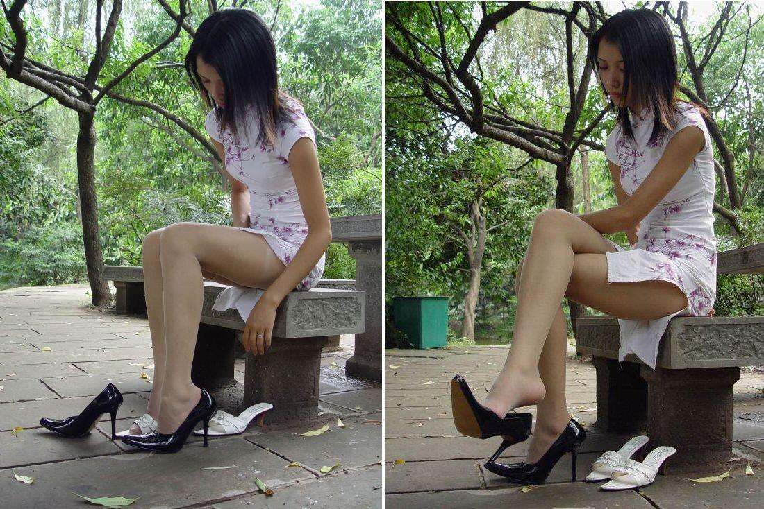 【コスプレエロ画像】あのスリットは魔性の存在( ̄□ ̄;)チャイナドレスと艶やか美脚