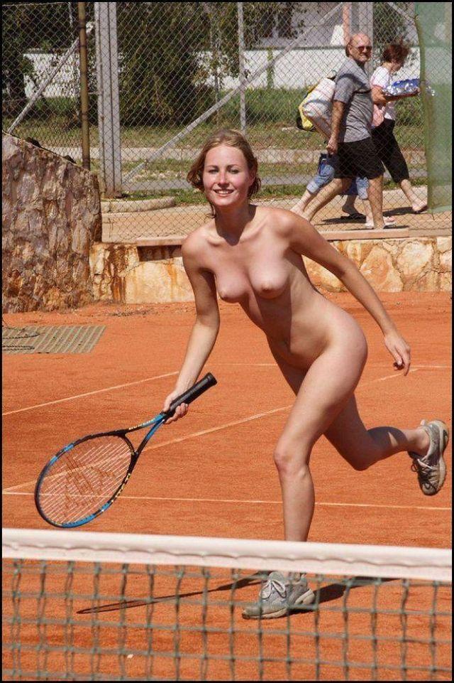 female badminton player Naked