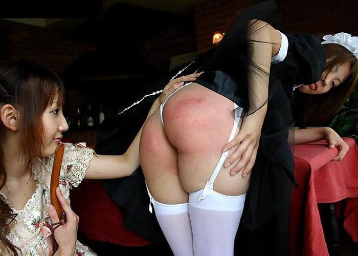 【SMエロ画像】尻が真っ赤になるまで叩かれて快感ってマジか(゜ロ゜ノ)ノスパンキング嗜好のM女