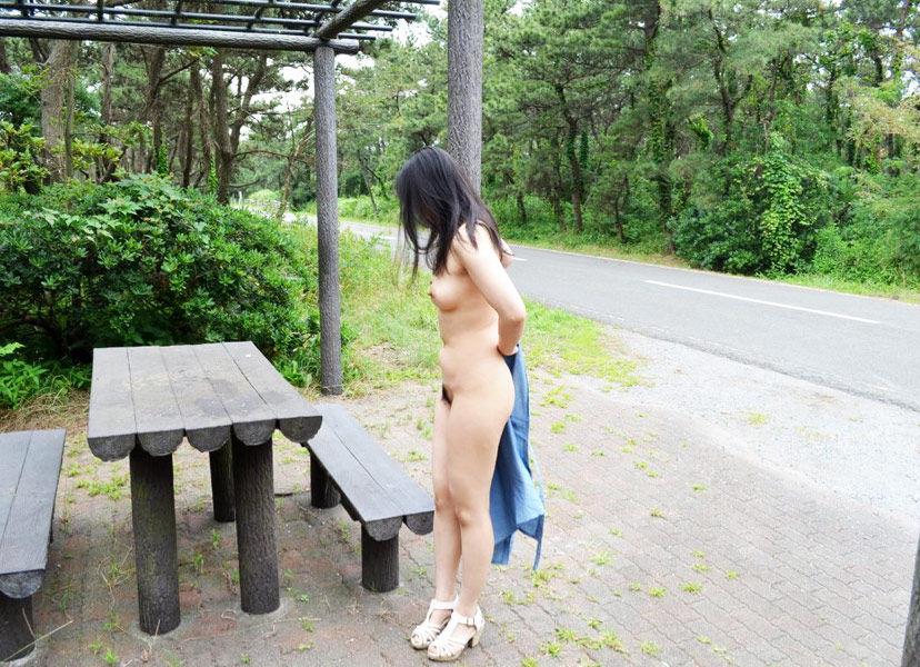 【露出エロ画像】変態な女性、大好物です♪と言う方々に捧げる野外露出中の美女たち(*゚∀゚)=3 02