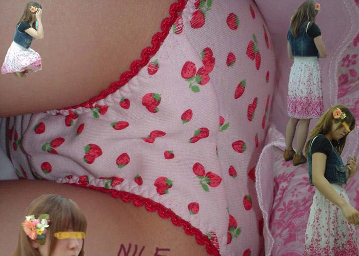 【パンチラエロ画像】外見とスカート内部の対比楽しすぎwww持ち主の姿つき逆さ撮り(*´Д`)
