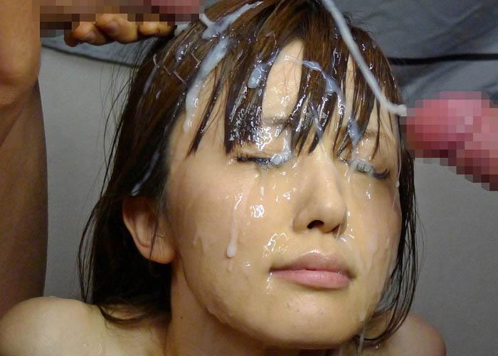 【ぶっかけエロ画像】彼女で試したら怒られますから!女の命、髪にぶっかけ(*´д`*)