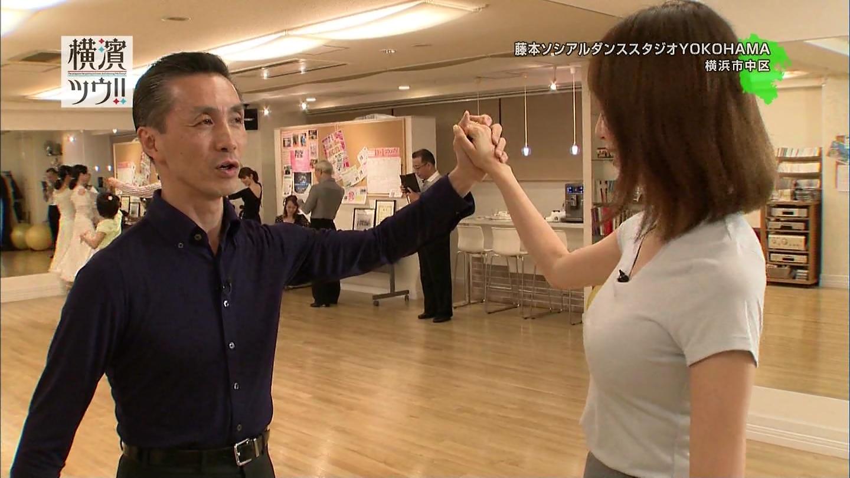 フリーアナ石田紗英子(35)の横乳社交ダンス