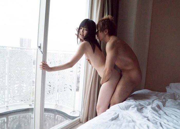 【エロ動画】やだ!外に見えちゃう…高い場所で一度はしたい窓際セックス(*゚∀゚)=3