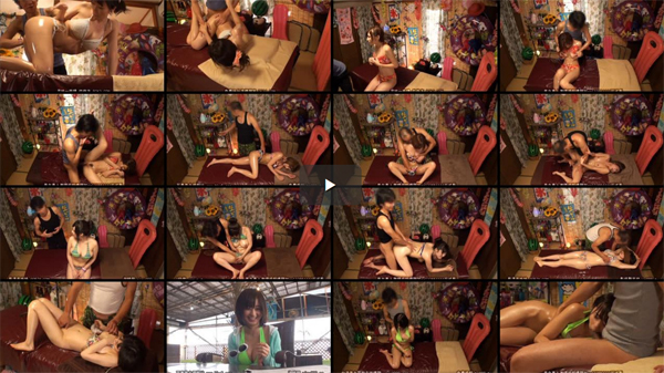【エロ動画】狙いはビキニ巨乳美女!海の家エステの猥褻マッサージの全貌(*´Д`) 03