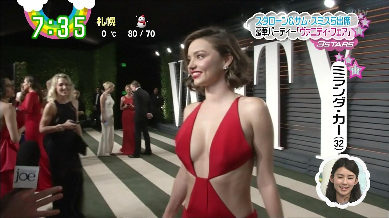 アカデミー賞でミランダ・カー(32)のハミ乳ドレス