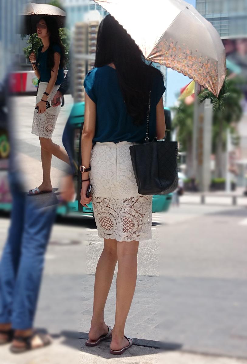 【海外美脚エロ画像】お隣さんは美脚率高い!素晴らしき中国美女たちの街撮り(;´Д`)