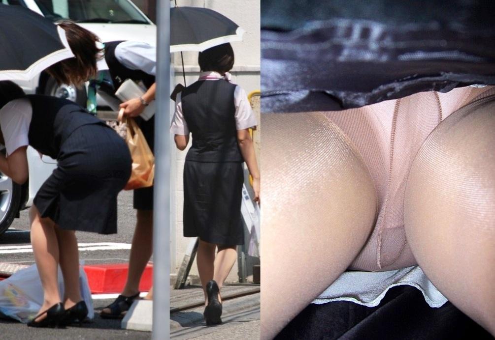 【パンチラエロ画像】スカートの長短関わらずパンツ暴いた非情の逆さ撮り(*´д`*)