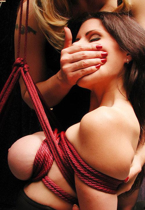 【緊縛エロ画像】肉寄せ効果でいつもより大きい!?縛られた巨乳M女たち(*´Д`)