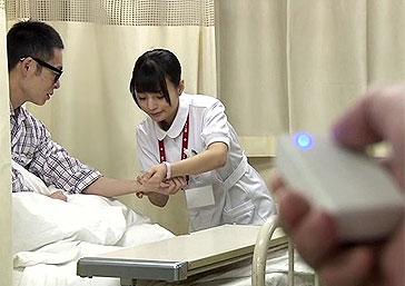 真面目に働く看護師にこっそりリモコンバイブ仕込んでみた