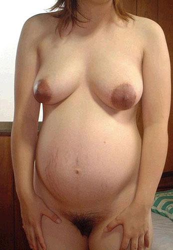 【妊婦エロ画像】妊婦さんのクログロとした乳首や乳輪には大興奮です! 19