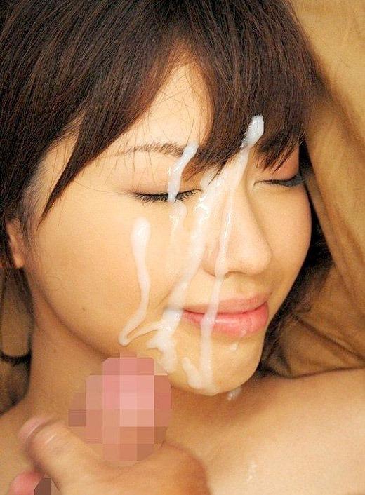 【顔射エロ画像】濃厚なザーメンが髪の毛に飛び散るほどの勢いが欲しい! 18