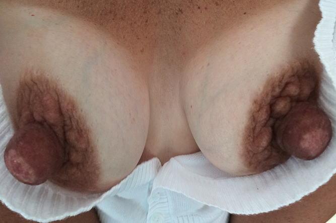 グロい形もある個性的な乳首のエロ画像