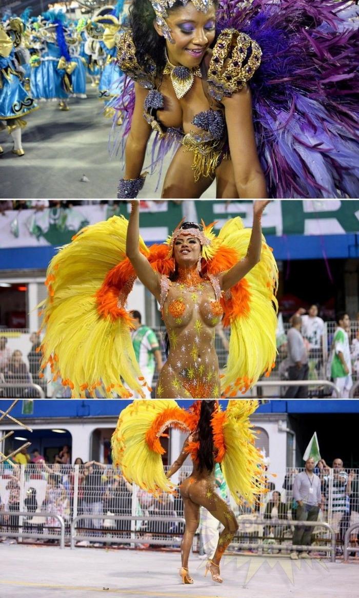 【ブラジル女性エロ画像】リオカーニバルでおっぱい丸出しで踊り狂うセクシーな女性たち 25