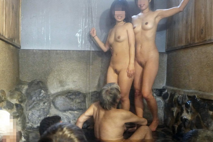 【混浴エロ画像】気持ちのいい露天風呂で気持ちのいいエロいコトしたいッス! 02