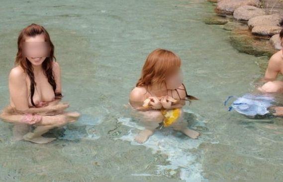 【混浴エロ画像】気持ちのいい露天風呂で気持ちのいいエロいコトしたいッス! 05