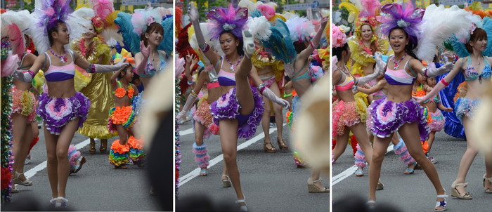 【サンバエロ画像】日本にもあった!本場さながらの衣装で踊るサンバ祭り! 03