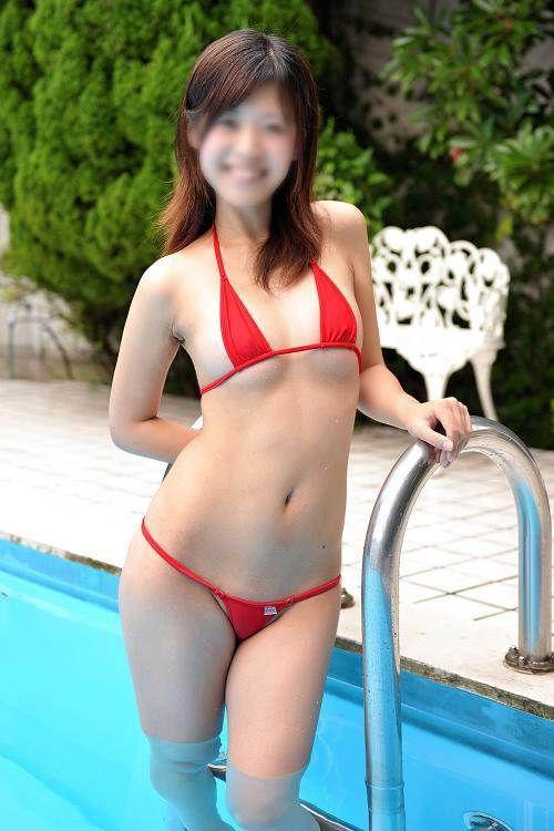 【過激水着エロ画像】これ本当に水着か!?全裸よりもエロいじゃないか!? 06