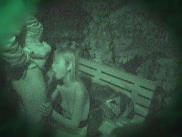 【夜の公園エロ画像】青姦スポットと呼ばれる公園を赤外線で覗いた結果ww 03