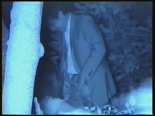 【夜の公園エロ画像】青姦スポットと呼ばれる公園を赤外線で覗いた結果ww 04
