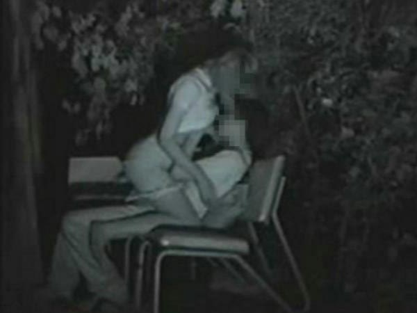 【夜の公園エロ画像】青姦スポットと呼ばれる公園を赤外線で覗いた結果ww 11