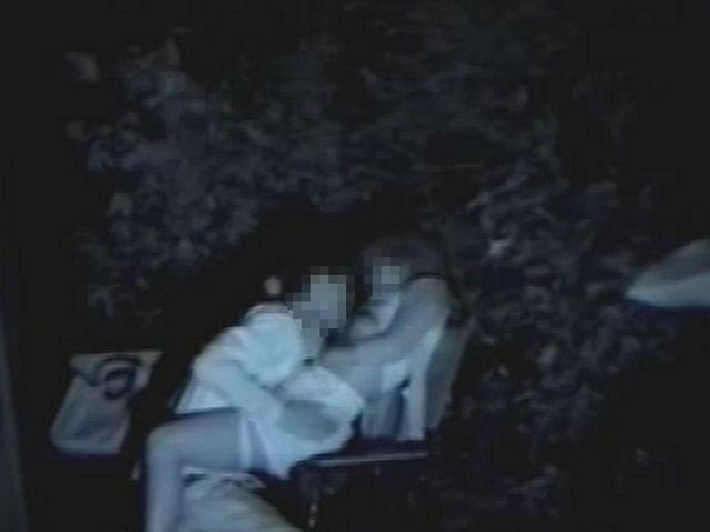 【夜の公園エロ画像】青姦スポットと呼ばれる公園を赤外線で覗いた結果ww 17
