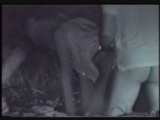 【夜の公園エロ画像】青姦スポットと呼ばれる公園を赤外線で覗いた結果ww 19