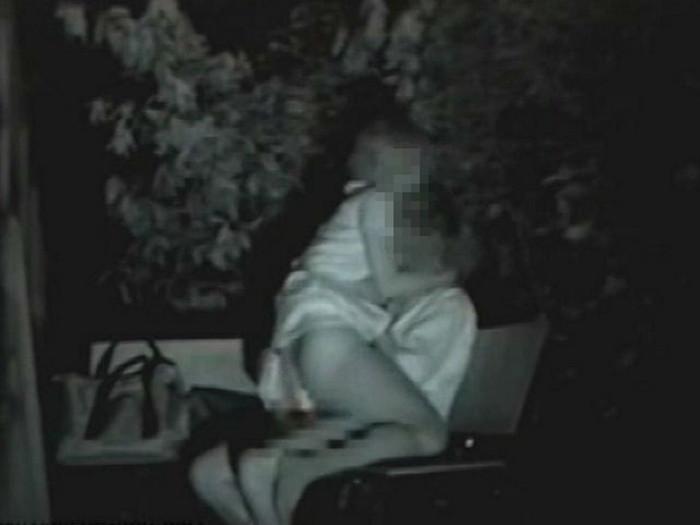 【夜の公園エロ画像】青姦スポットと呼ばれる公園を赤外線で覗いた結果ww 24