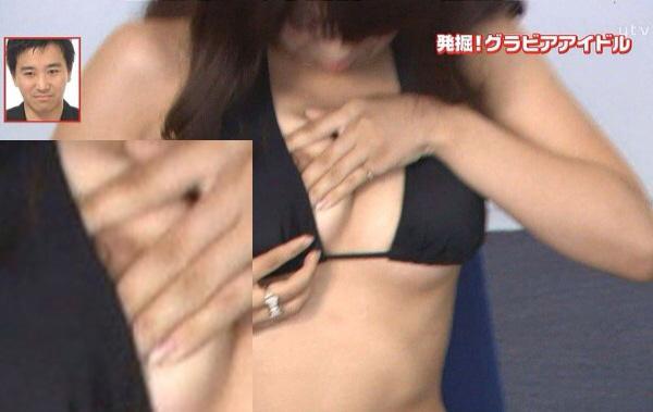 【TVハプニングエロ画像】思わぬラッキー!テレビで流れたエロハプニング集! 01