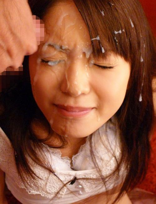 【顔射エロ画像】顔中が卑猥なザーメンまみれ!顔射された女の子の画像集めたった! 05