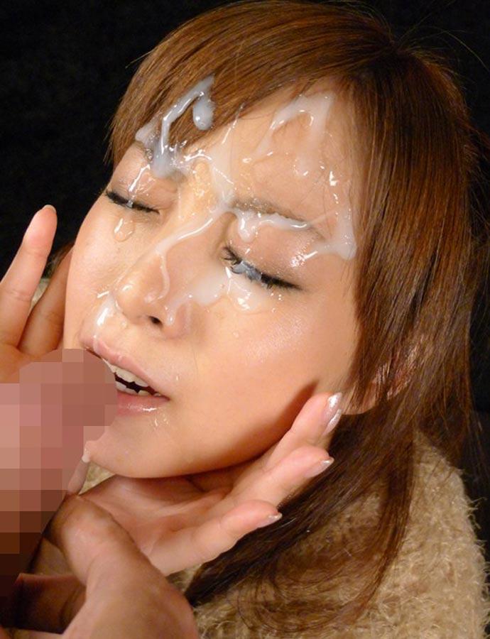 【顔射エロ画像】顔中が卑猥なザーメンまみれ!顔射された女の子の画像集めたった! 07