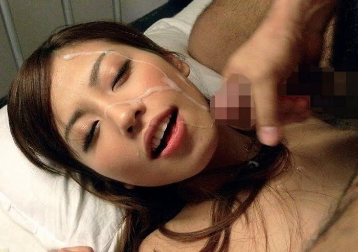 【顔射エロ画像】ドロッドロのザーメンで女の子顔、汚したったwww 09