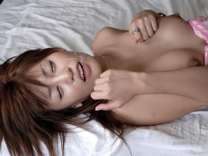 【顔射エロ画像】ドロッドロのザーメンで女の子顔、汚したったwww 16
