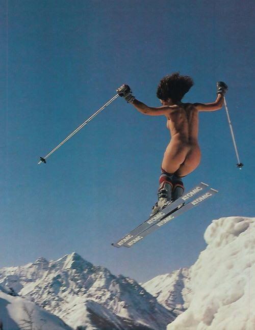 【全裸スキーエロ画像】見ているだけで風邪ひきそう!全裸でスキーなんて狂ってるw 27