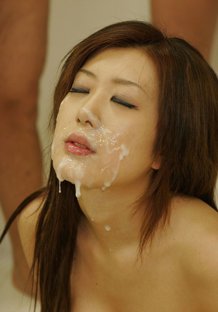 【顔射エロ画像】女の子の顔がザーメンまみれでドロドロ~っていうヤツww 10