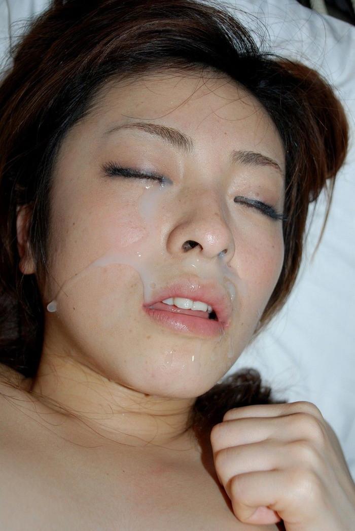 【顔射エロ画像】女の子の顔がザーメンまみれでドロドロ~っていうヤツww 13