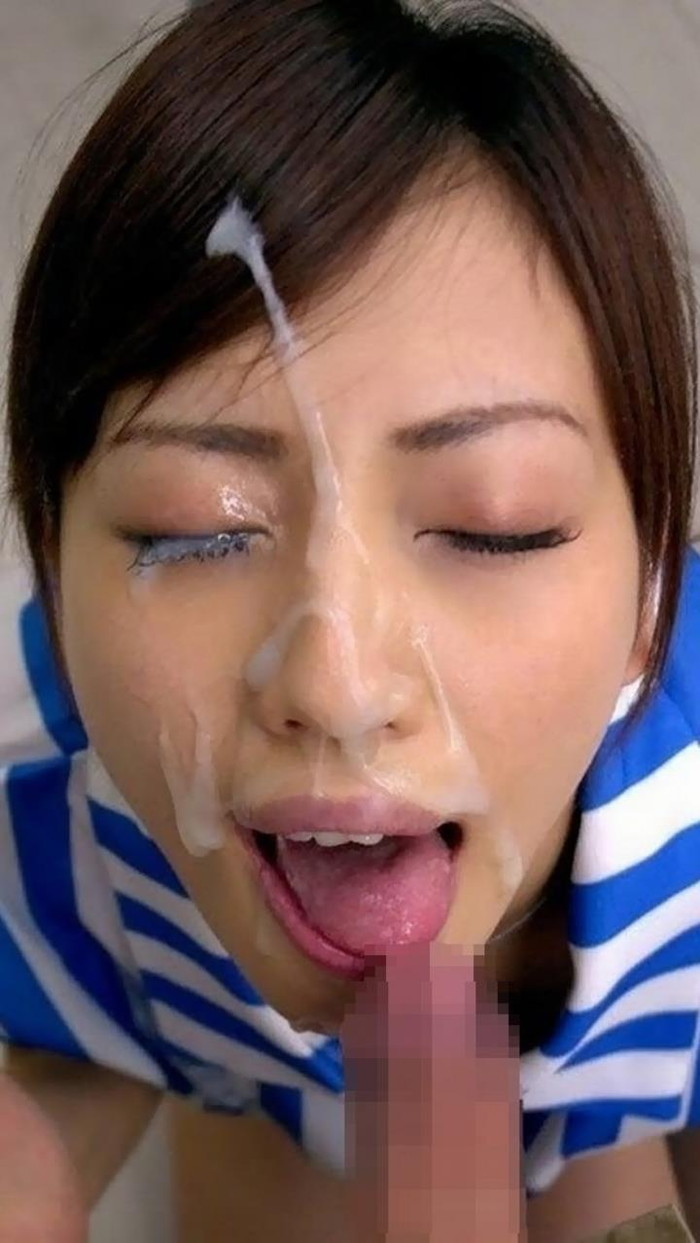 【顔射エロ画像】女の子の顔がザーメンまみれでドロドロ~っていうヤツww 24