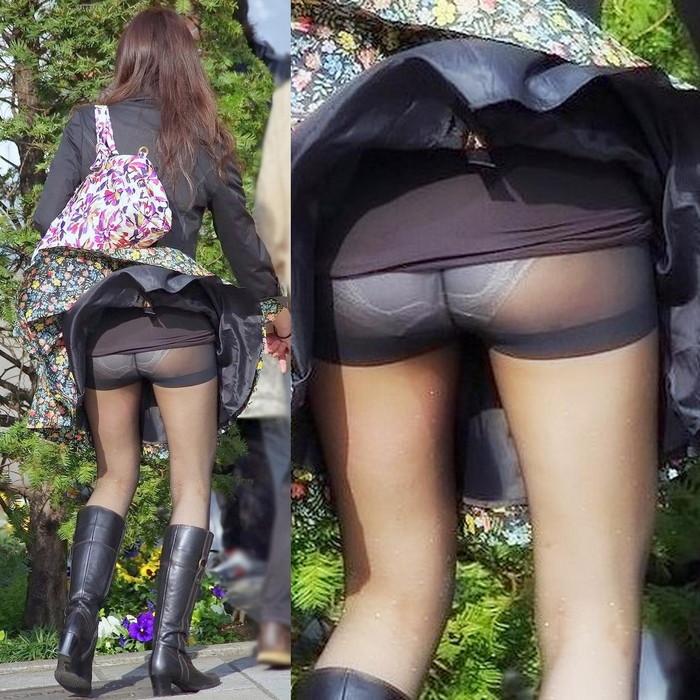 【パンチラエロ画像】風に翻ったスカートの中身を狙い撃ちしたったぜww 05