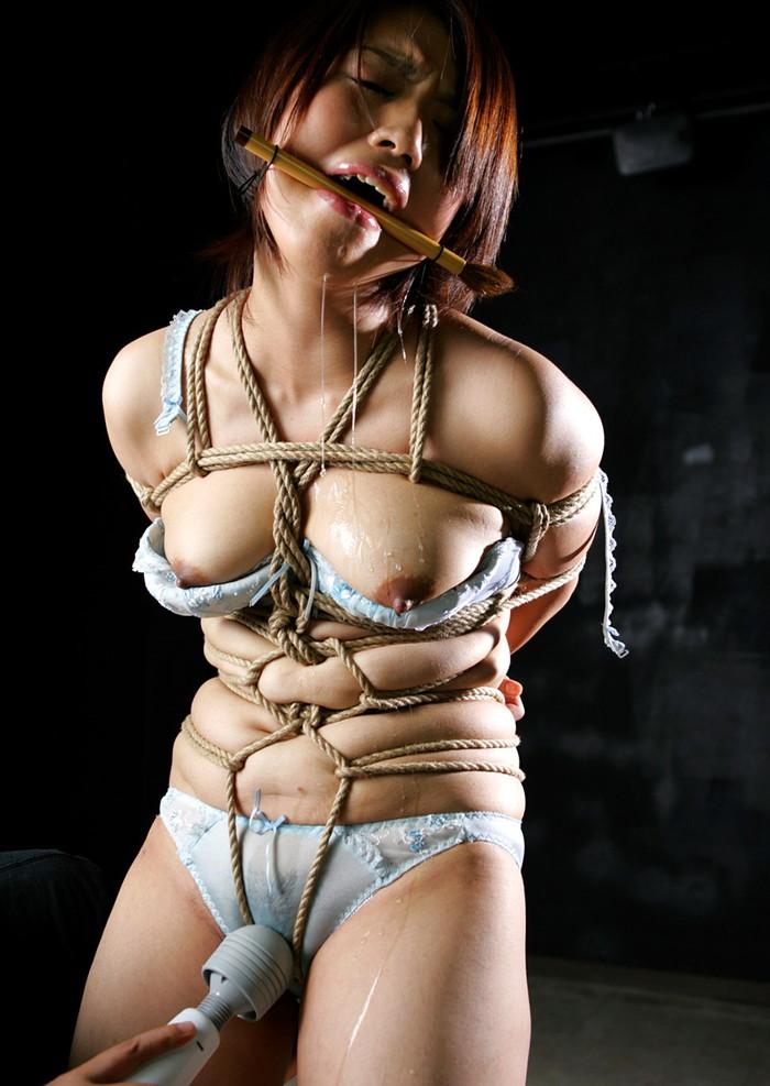【緊縛エロ画像】趣味の路線強し!女の子が緊縛されて辱めを受けている画像! 12
