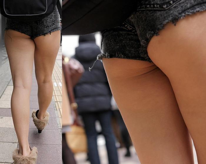 【ホットパンツエロ画像】男性の視線独り占め!どうしたってガン見しちゃうホットパンツ! 23