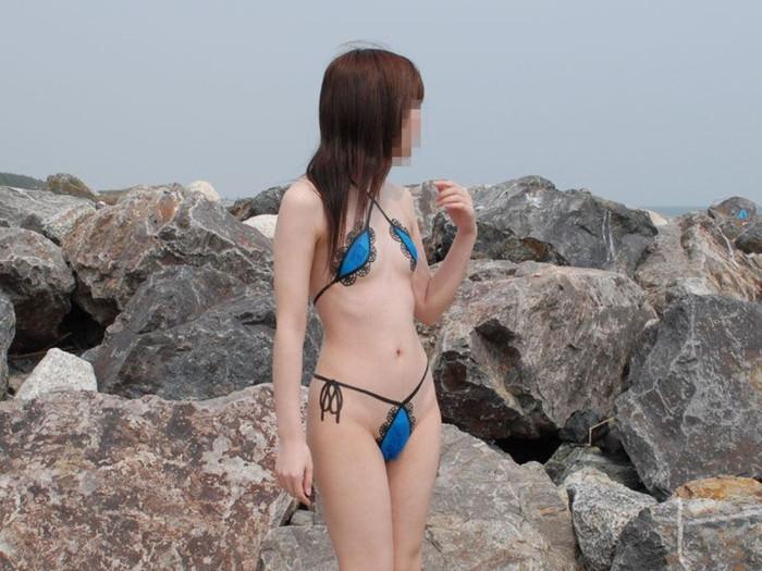【ボディーペイントエロ画像】全裸ペイントという新しいスタイルの露出プレイ! 19