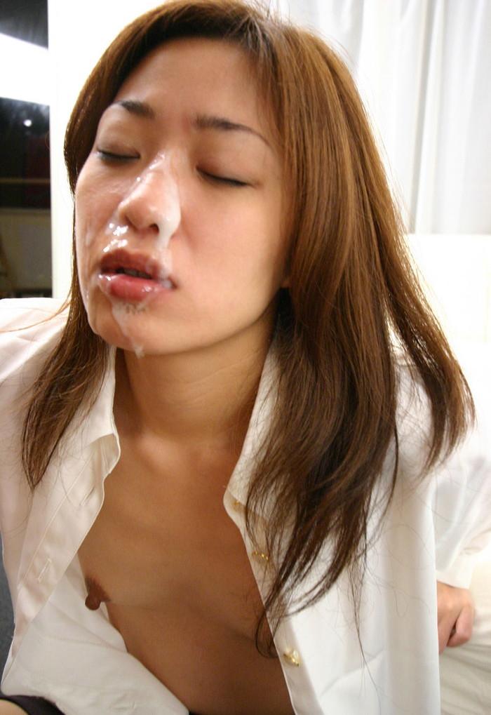 【顔射エロ画像】ほとばしる男汁で女の子のすました顔を征服せよ!www 01