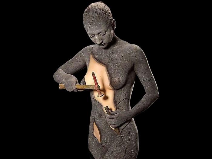 【ボディーペイントエロ画像】一見すると普通の女の子が実は全裸だったwww 07