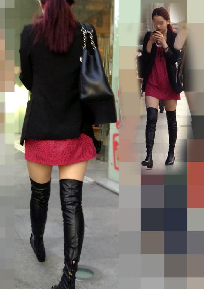 【素人美脚エロ画像】街中を歩く素人娘たちの美味しそうな美脚に妄想大爆発!?w 27