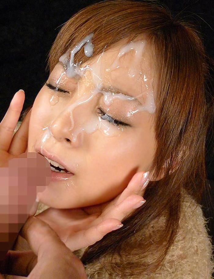 【顔射エロ画像】女の子の顔に濃厚な男汁ぶっかけたれや!www 11