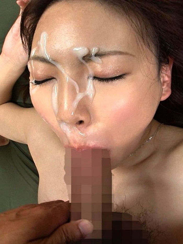 【顔射エロ画像】卑猥すぎる!女の子の可愛い顔がザーメンでドロドロだ! 01