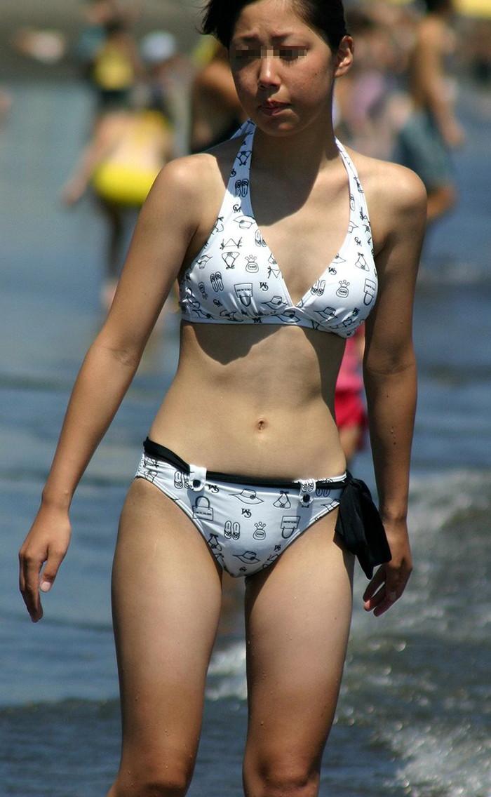 【素人水着エロ画像】素人娘の水着姿に勃起するやつちょっと来い!www 08