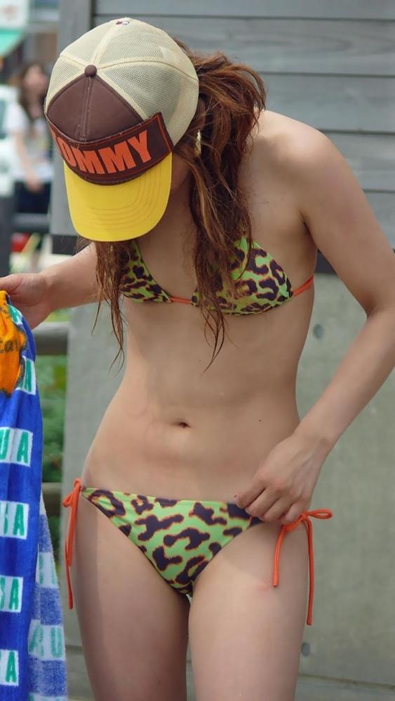 【素人水着エロ画像】素人娘の水着姿に勃起するやつちょっと来い!www 11